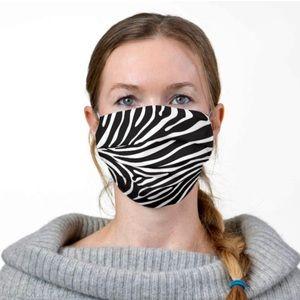 Zebra print face masks • 3 layers • 2 - $25